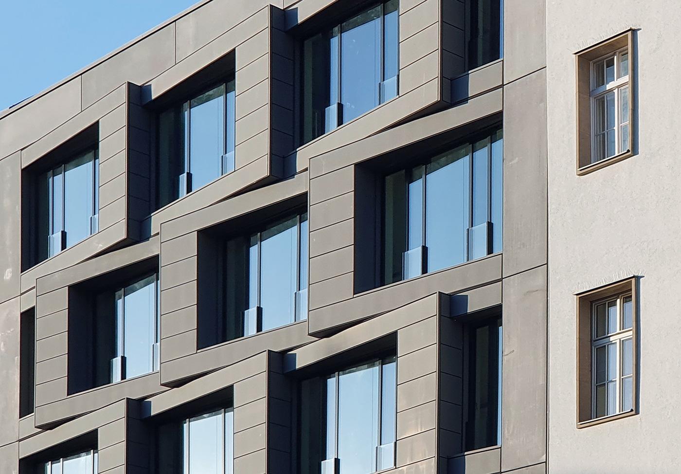 Neubau eines Bürogebäudes neben dem alten Postamt in Berlin-Kreuzberg